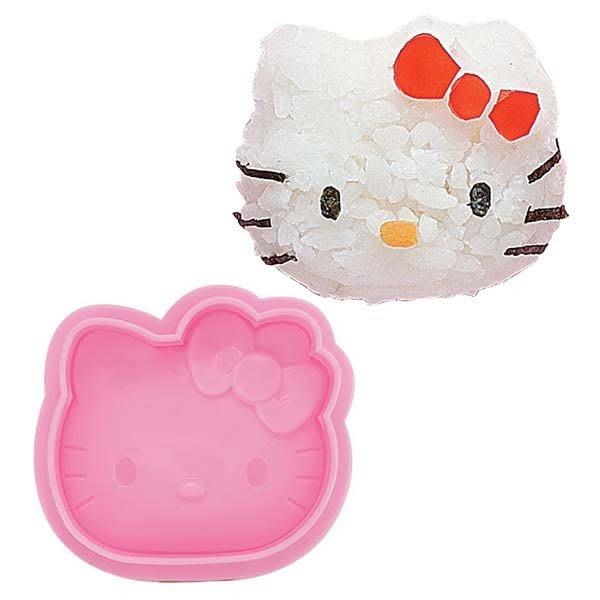 ~日本貨衝衝衝~ 12030800007 飯糰臉型壓模-粉 kitty 凱蒂貓 飯糰壓模 食物壓模 造型模具 DIY便當