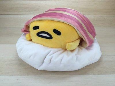 尼德斯Nydus~* 日本正版 三麗鷗 脫力系 蛋黃哥 娃娃 公仔 培根棉被 好冷~ 24x16cm -M