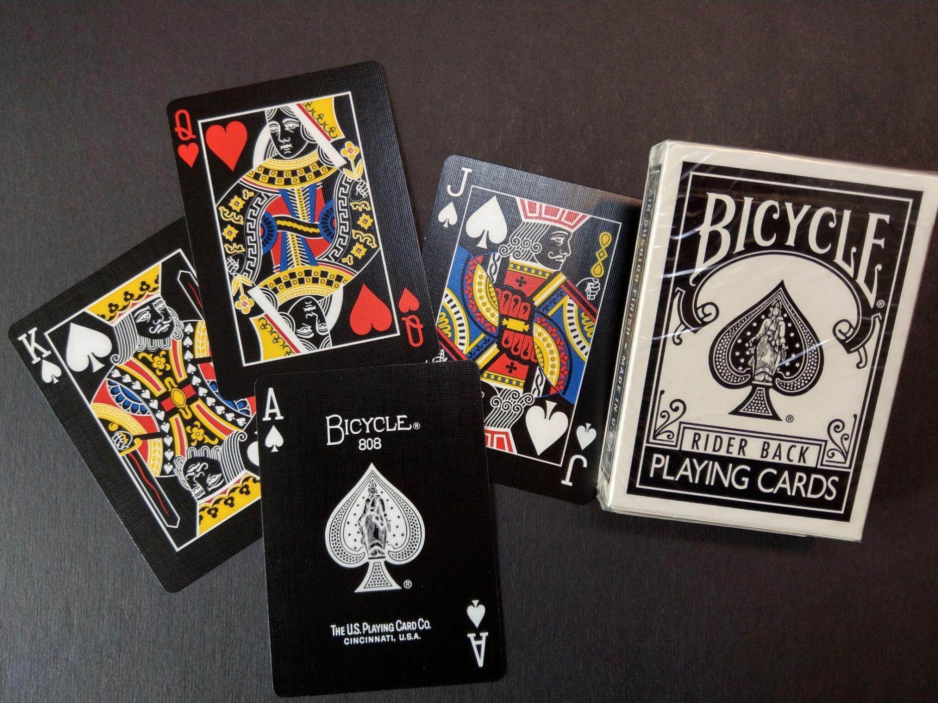 Bicycle 撲克牌 反色 黑