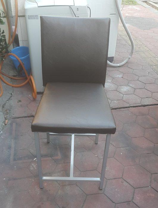 台中樂居二手家具 全新中古傢俱家電 F517EJJ2 咖啡色皮面餐椅*洽談椅 電腦椅 書桌椅 會客椅 2手各式家具拍賣