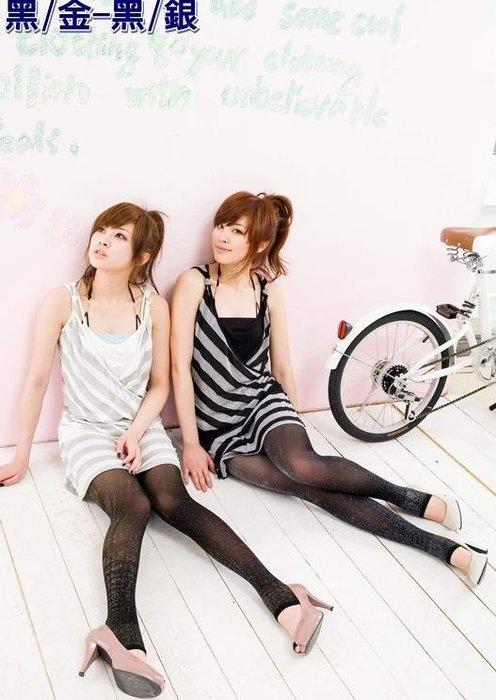 ☆玫瑰 襪館☆OL最愛50Den加厚款金蔥踩腳絲襪褲襪微透膚款,黑金蔥、黑銀蔥2色,穿高跟