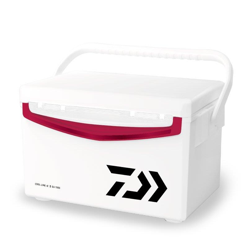 【欣の店】Daiwa  COOL LINE α II S1500X 保冷33小時 投入孔 池釣冰箱 磯釣冰箱