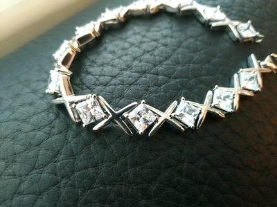 豪華手鍊4.5折交叉滿鑽石手鍊飾品配件...