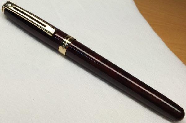 威利的鋼筆世界【西華新款平價鋼筆大集合】9成新SHEAFFER PRELUDE大理石紅漢漆鋼筆 M