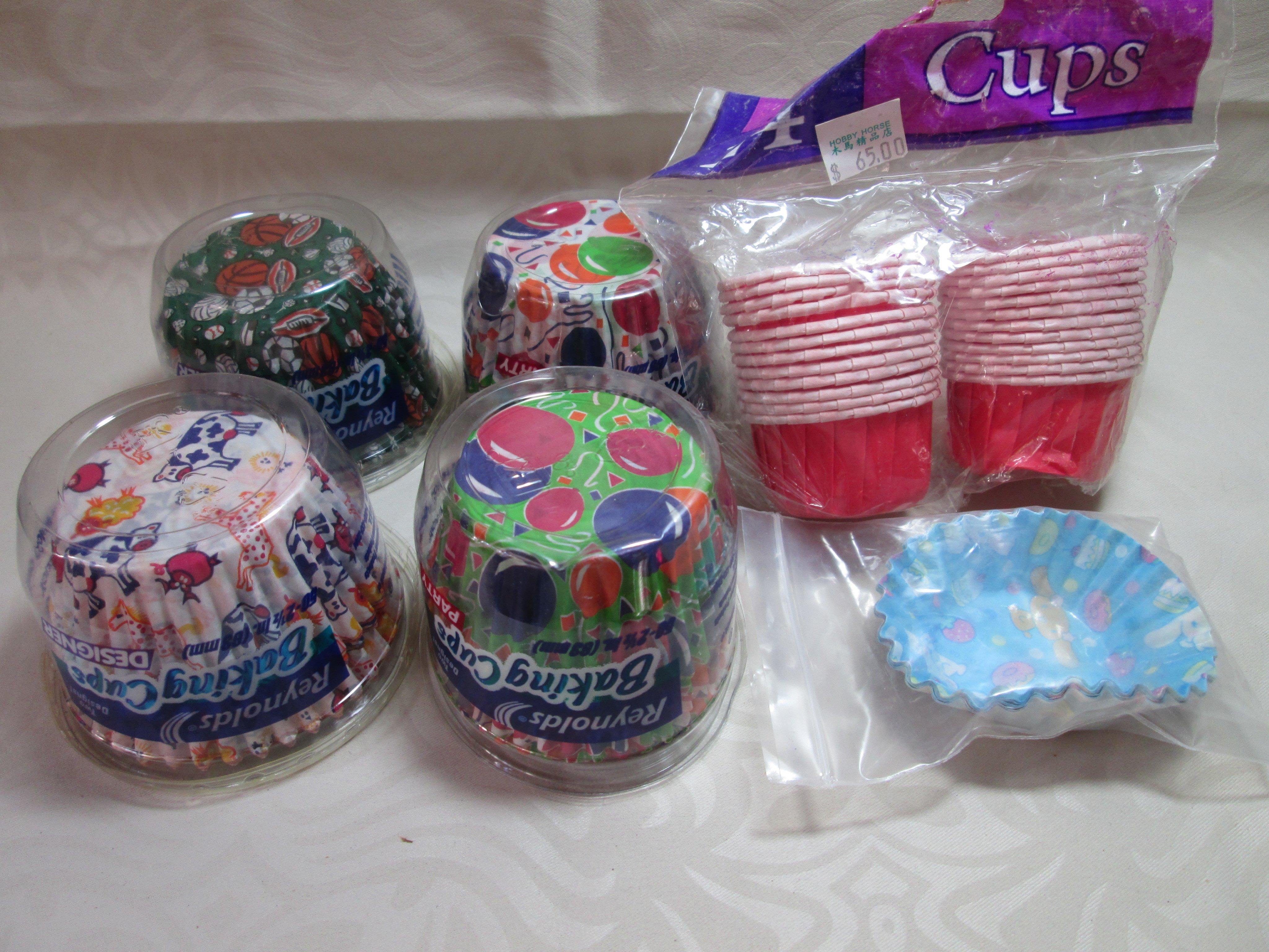 彩色烘焙紙杯 美國製 Reynolds 氣球 動物 運動 布丁狗 馬芬杯子蛋糕烤杯 烤模 油力士紙 215入