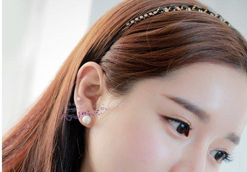 *。漾漾小舖*。非買不可典雅經典版白色珍珠感磁鐵耳環【A1906】☆°不用耳洞