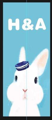 【C'est la vie】 *客製尺寸門簾* 兔子 寬70*長170cm 分片式 北歐現代簡約 原創風格門簾