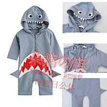 朵媽の店 可愛度爆表寶寶鯊魚泳裝 鯊魚 連身泳衣 鯊魚長袖防曬泳衣 嬰兒泳衣 男童泳裝 女
