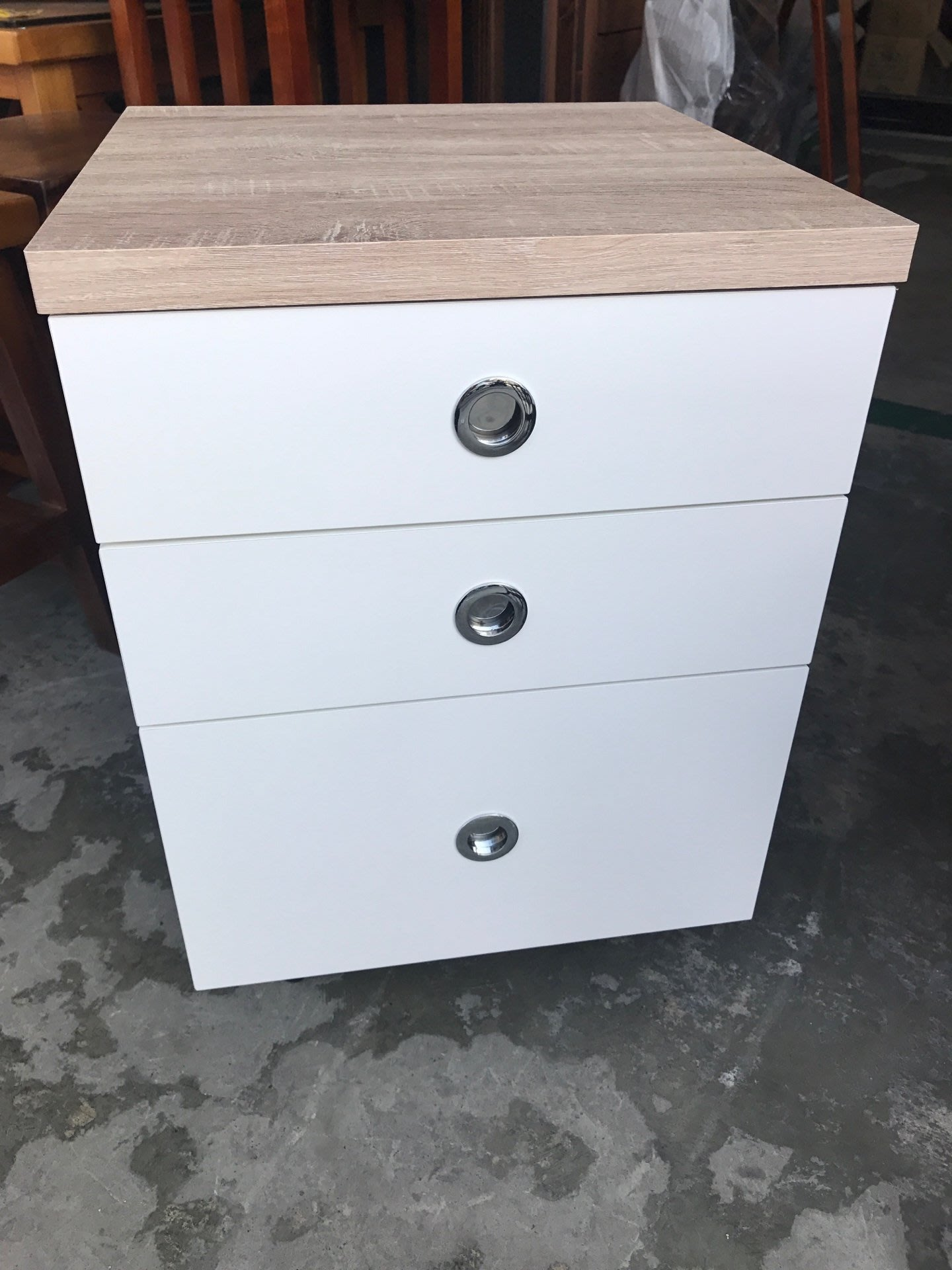 《鑫進行》新品 金美 雙色 活動櫃 三抽屜 三抽櫃 全木心板材質 木紋/白色
