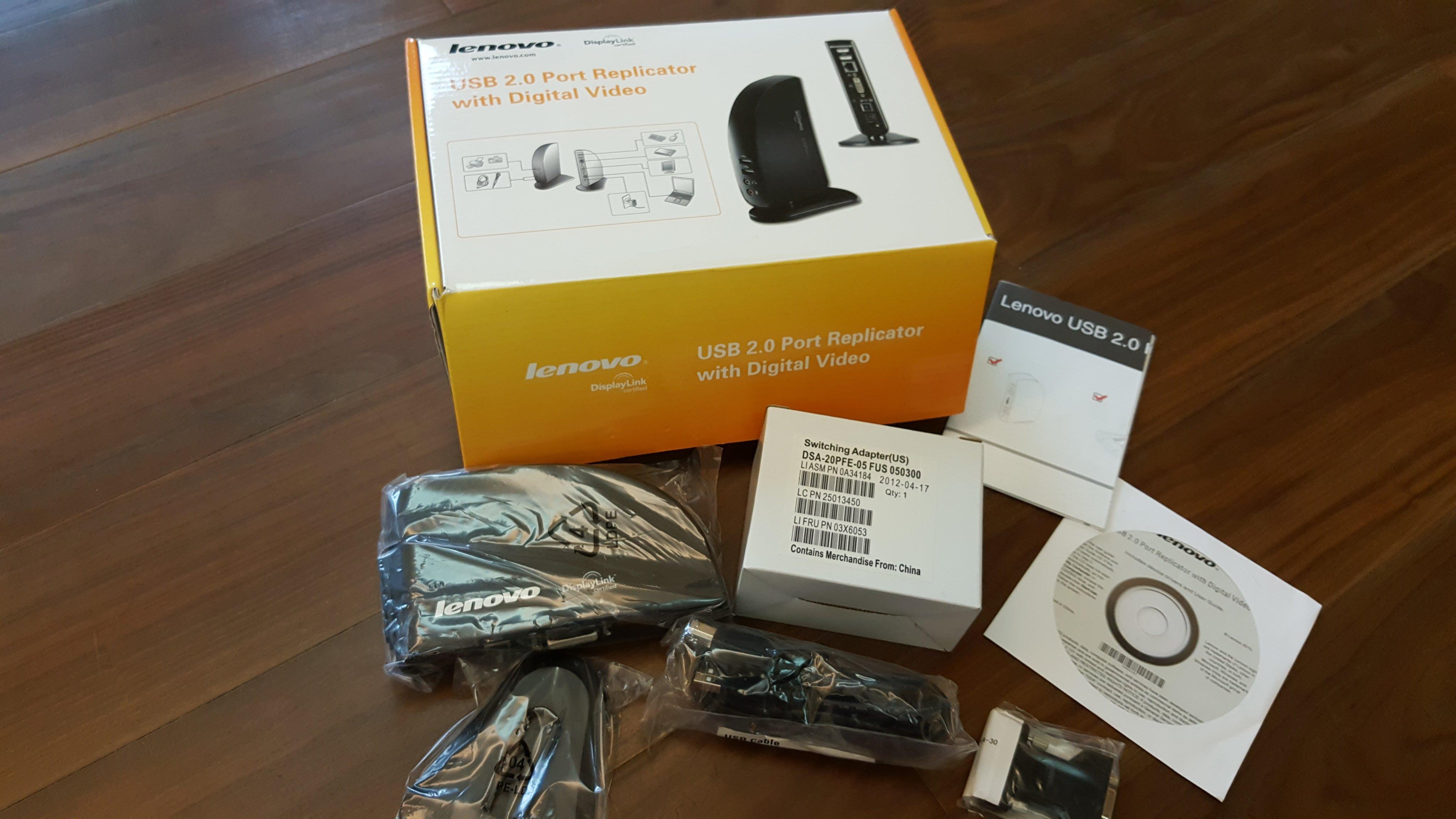 Lenovo USB 2.0 Port Replicator with Digital Video 擴充基座 (免運)