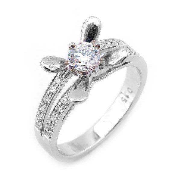 【JHT 金宏總珠寶/GIA鑽石專賣】0.35ct天然鑽石戒指/材質:18K(D000190)