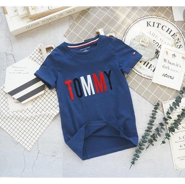 ❤ 大老婆小寶貝❤ 中大童Tommy 優質純棉短袖棉T/短袖上衣~130cm.140cm.150cm.160cm.170