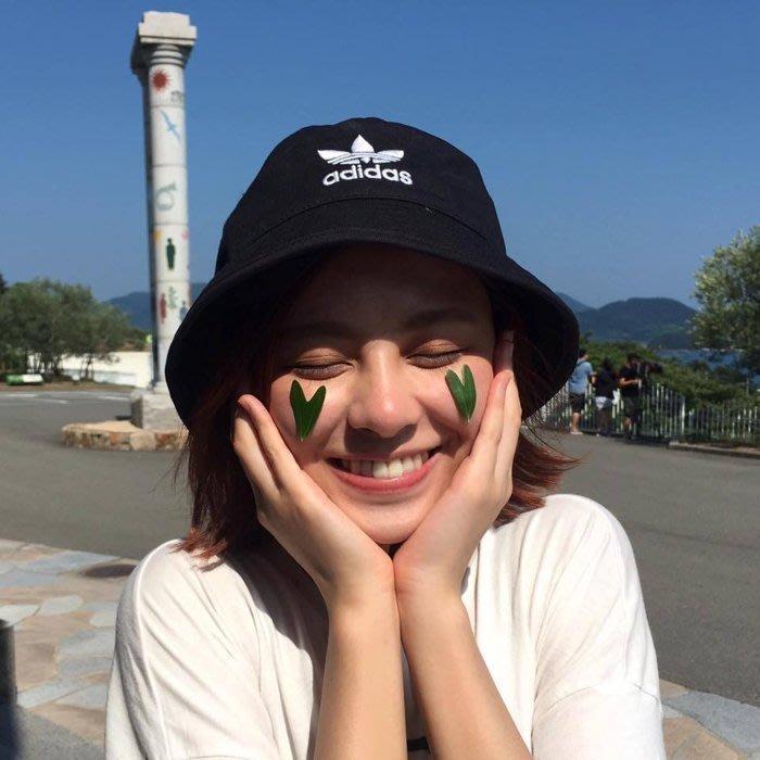【豬豬老闆】ADIDAS Trefoil Bucket Hat 黑白 大LOGO 三葉草 漁夫帽 電繡 BK7345