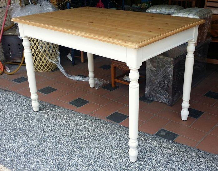 美生活館---全新 南法刷舊雙色風格---艾莉 餐桌椅組--工作桌/餐桌/展示桌--餐椅另購/桌另有寬 140 可購