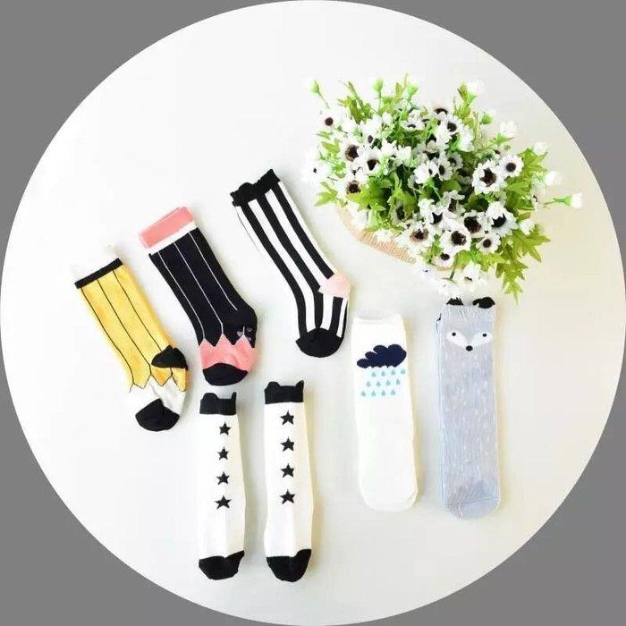 超可愛女童中筒襪 直條紋 荷包蛋襪❤️❤️Moira shop❤️❤️