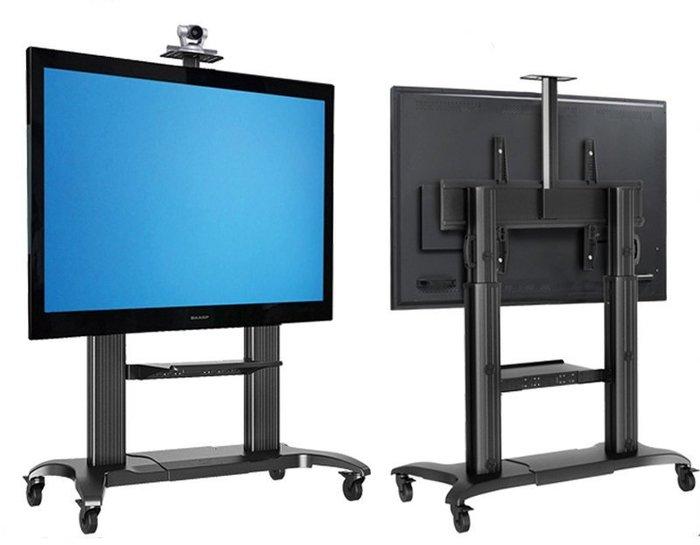 【海洋視界NB-CF100黑色】60-100吋 可移動式液晶電視立架 工用觸控TV架 落地架可移動壁掛架