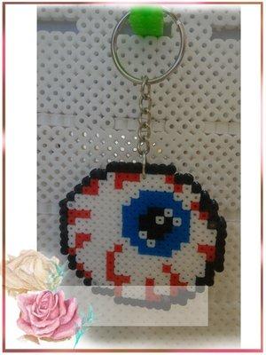 【Q豆】手工拼豆(3m) 眼球♡悠遊卡套 卡通 動漫 票套 吊飾 鑰匙圈