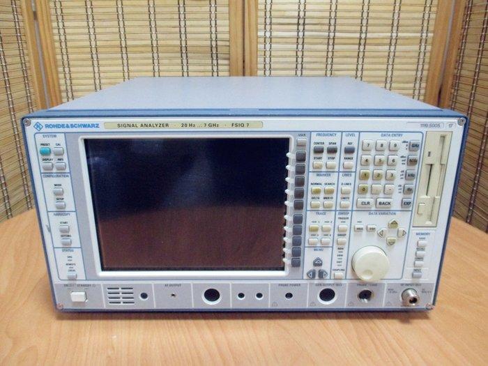 康榮科技二手儀器領導廠商R&S FSIQ7/B4/B5/B7/K10 Signal Analyzer 20Hz-7GHz