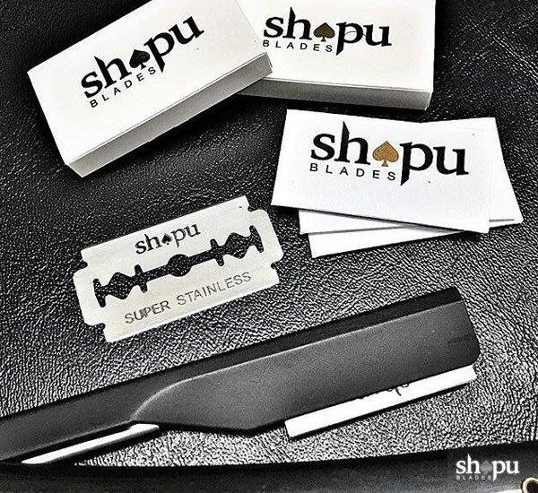 GOODFORIT / 美國SHAPU Blades Platinum Double Edge黑桃白金刀片/五入