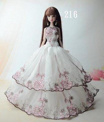 奇異果芭比屋~芭比娃娃高檔繡花禮服~編號216-228