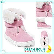 【童夢屋】RALPH LAUREN粉色POLO毛絨反摺短靴.RL休閒鞋.靴子8.9.10【