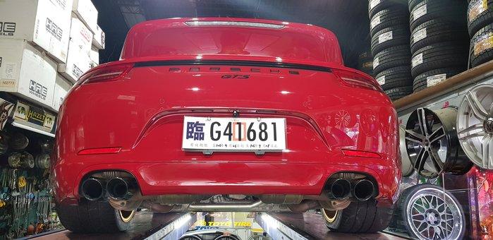 PORSCHE  991 GTS 原廠排氣管   芭蕉+閥門+中段+消音桶+尾式管  (4出尾飾管)  正GTS