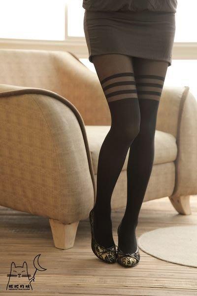 【拓拔月坊】日本品牌 Chaton Moe 環狀假膝上 褲襪 日本製~現貨!