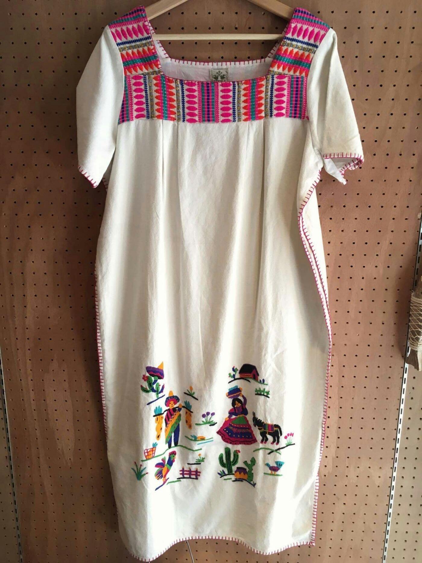 墨西哥手工刺繡洋裝 長洋裝