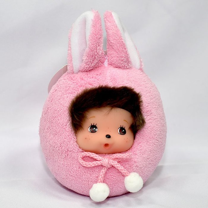 夢奇奇 monchhichi 兔子不倒翁 玩偶 日本帶回正版商品