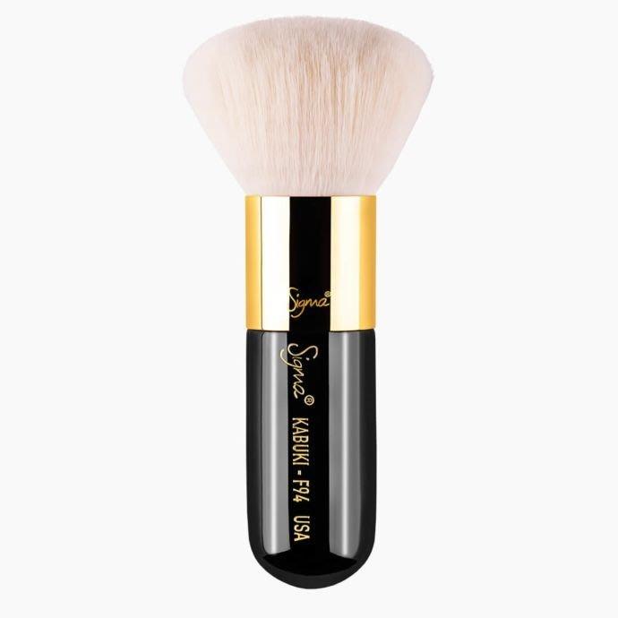 【愛來客】☆美國Sigma官方授權經銷商☆ F94 Kabuki BrushGold(金環) 專業化妝刷 蜜粉刷 腮紅刷
