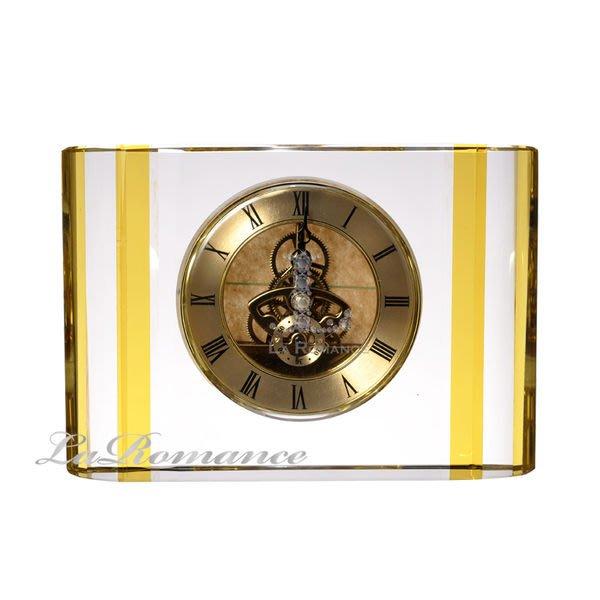 【芮洛蔓 La Romance】 璀璨水晶 - 金黃水晶桌鐘 / 座鐘