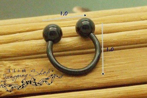 *。漾漾小舖*。簡單U型可戴耳骨假擴耳環˙鋼【A1799】☆°單隻價