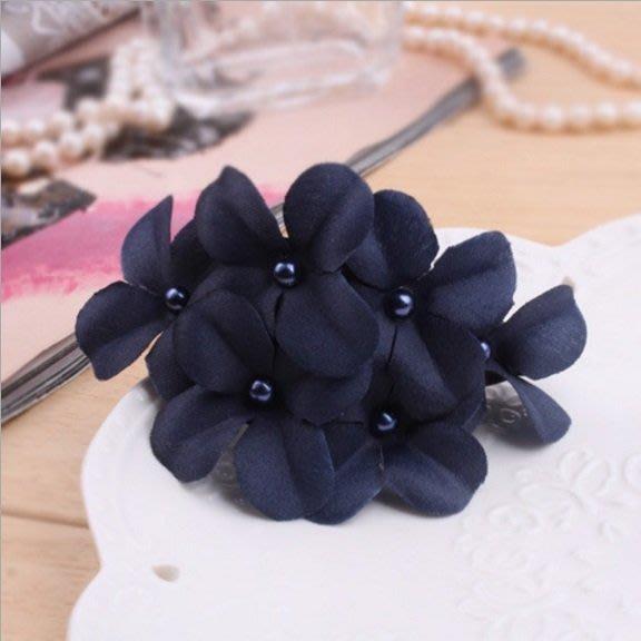 《琉璃的雜貨小舖》韓版爆款氣質花朵香蕉夾 六朵小花髮夾 馬尾夾
