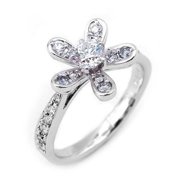 【JHT金宏總珠寶/GIA鑽石專賣】0.310ct天然鑽石造型拚鑽戒/材質:PT900/附證書(JB35-B02)