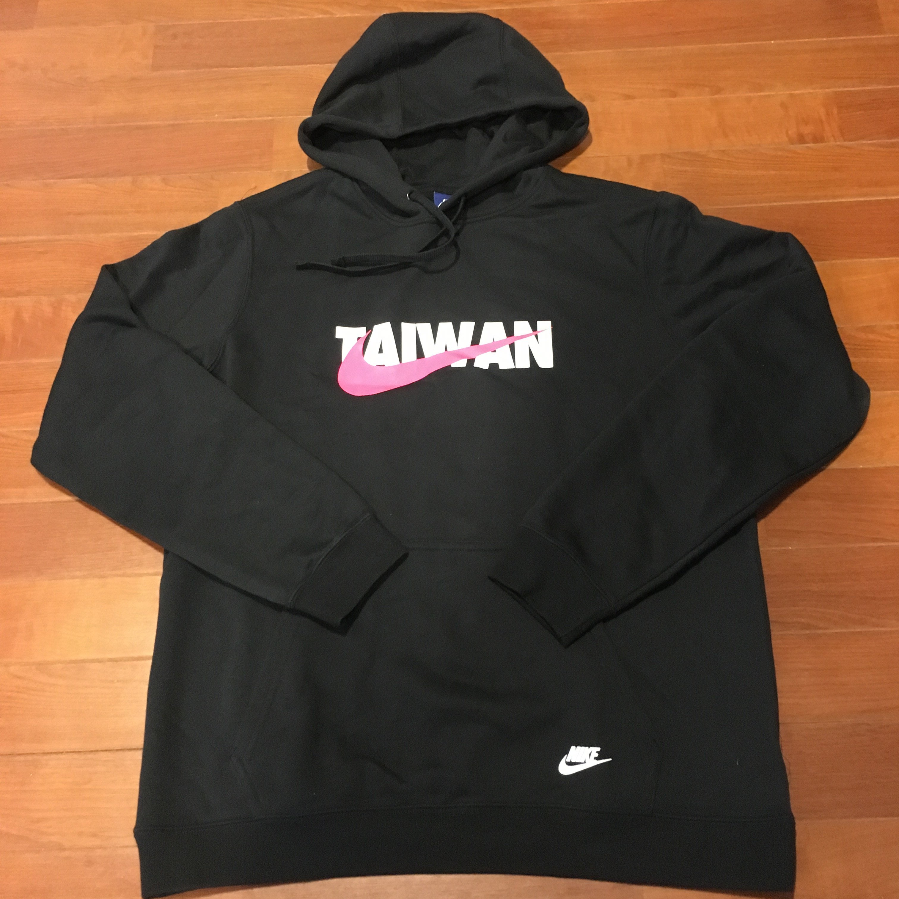 Nike Taiwan Hoodie 男運動休閒連帽T恤 外套帽T 台灣 黑白桃紅 中華隊 舒適純棉 薄款 限量 XL