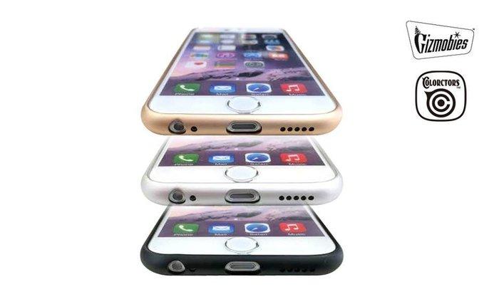 GOODFORIT / 日本COLORCTORS iPhone6 Plus輕量化鋁製邊框保護殼/黑、金
