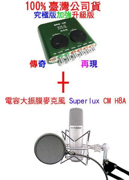 RC語音第7號套餐之2:KX-2 +Superlux CM H8A+ 48V電源+ASD-40 支架+ 線x2+SHM-8A防震架+防噴網