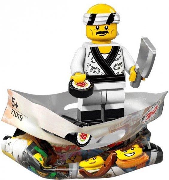 現貨【LEGO 樂高】積木 / 人偶包系列 忍者電影 71019 | #19 壽司師傅+菜刀+壽司 Sushi Chef