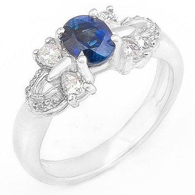 【JHT 金宏總珠寶/GIA鑽石專賣】1.00ct天然藍寶造型鑽戒/材質:14K(S00016)