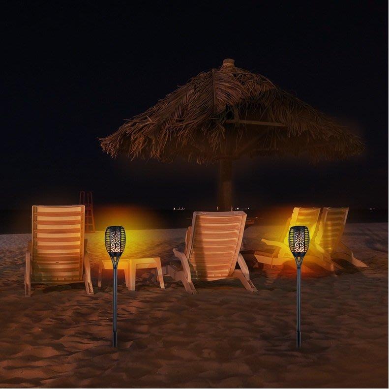 超值2入~戶外96LED 太陽能火把燈 插地燈 露營燈 火炬燈 仿真火把燈 動態火把 庭院景觀照明路燈 太陽能燈 草坪燈