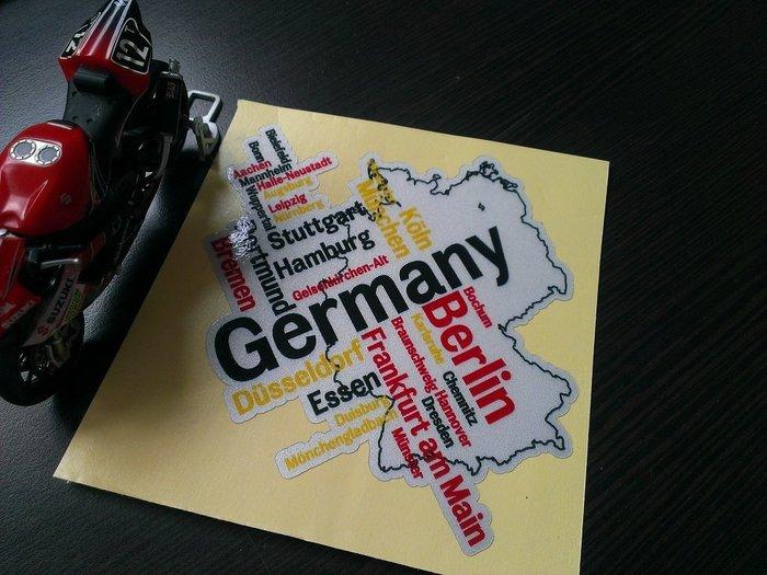 GERMANY 地圖防水貼紙 BENZ A180 A250 B180 B200 C180