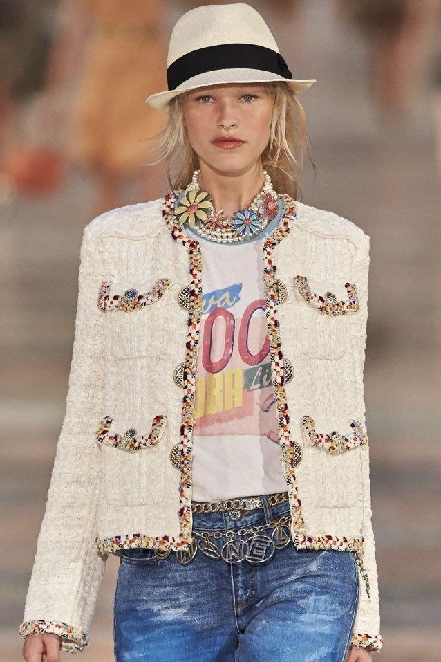 Chanel ❤️ 走秀款 CoCo 短袖 T恤 外套
