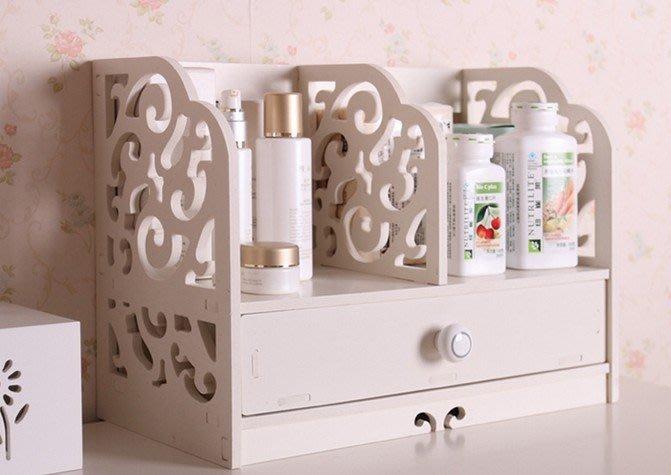 FUO衛浴: 家居 環保 防水 簡易桌上型置物架 附抽屜   4433