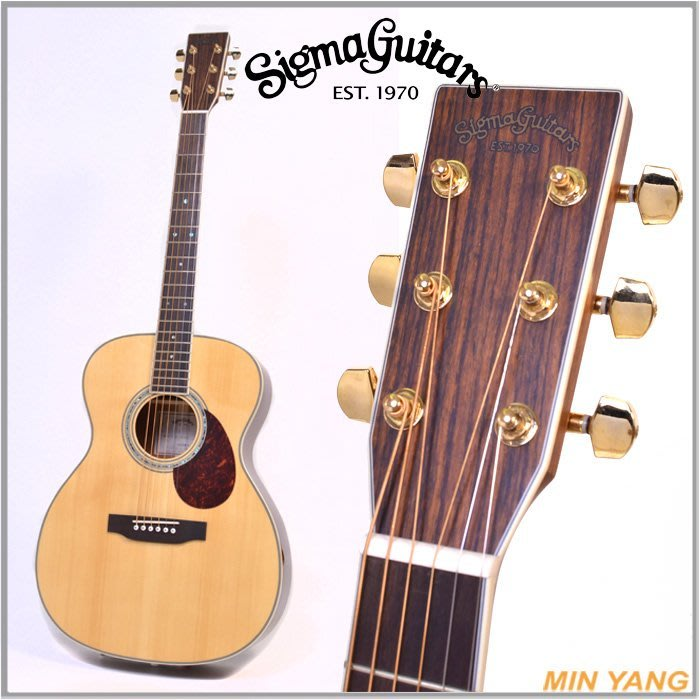 【民揚樂器】木吉他 Sigma OMM-4 木吉他 面單雲杉 民謠吉他