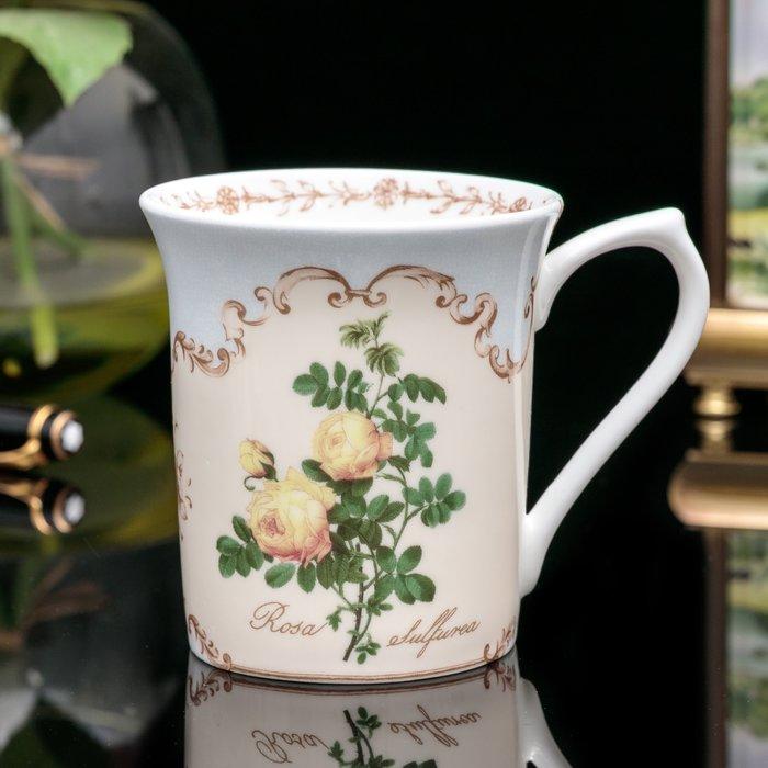 【吉事達】細緻英國Queens皇后瓷-淡雅飄香皇家花園玫瑰精緻骨瓷花茶杯 咖啡杯 優雅享受