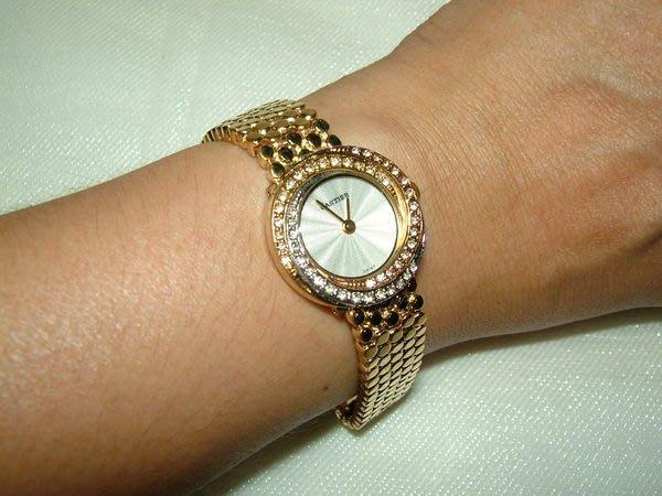 全心全益低價特賣*伊陸發鐘錶百貨商場*達蒂雅金女腕錶 *財運旺旺來.