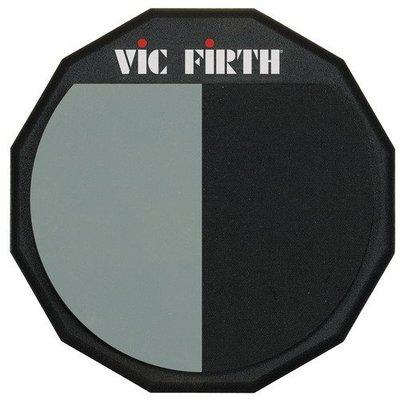 ☆ 唐尼樂器︵☆公司貨美國 VIC FIRTH PAD-12H 12吋單面軟、硬邊打擊練習板/打點板/打擊板