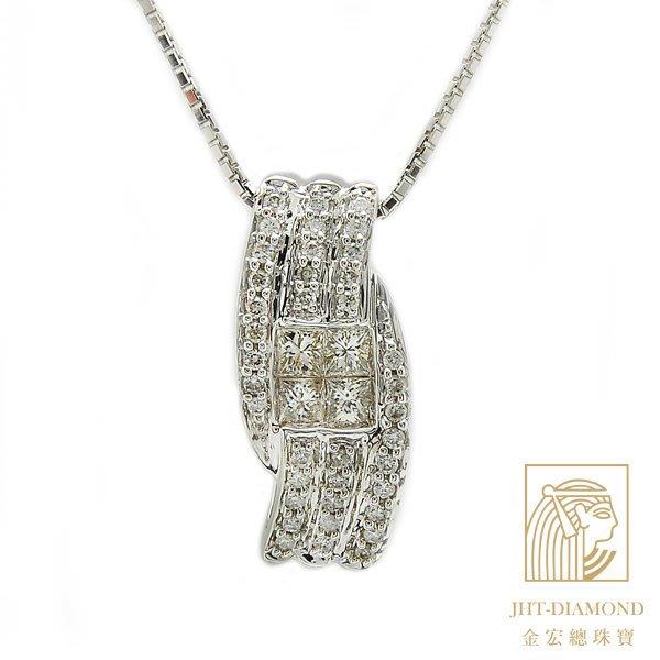 【JHT金宏總珠寶/GIA鑽石專賣】0.75克拉天然鑽石墜鍊/材質:18K(JB38-B13)