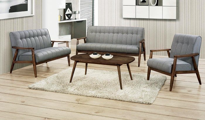【DH】商品貨號N580-1商品名稱《剛綸》胡桃色布1.2.3沙發組。不含茶几。可拆賣。簡約雅緻經典。主要地區免運費