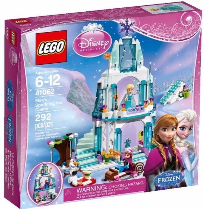 【LEGO 樂高 】100% 全新正品 益智積木 / 公主系列:艾莎的閃亮冰雪城堡41062 冰雪奇緣 安娜 雪寶